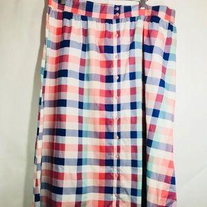 ASOS button down striped skirt NWT